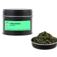 Sellerieblätter gerebelt von Aromatikus in einer Aromaschutzdose