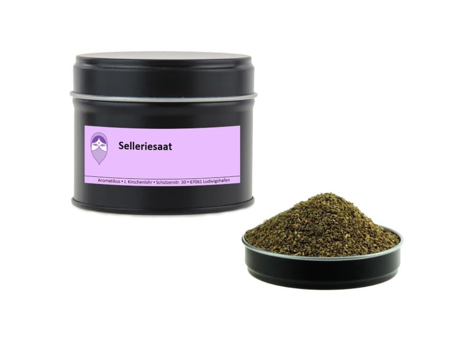 Selleriesaat von Aromatikus in einer Aromaschutzdose
