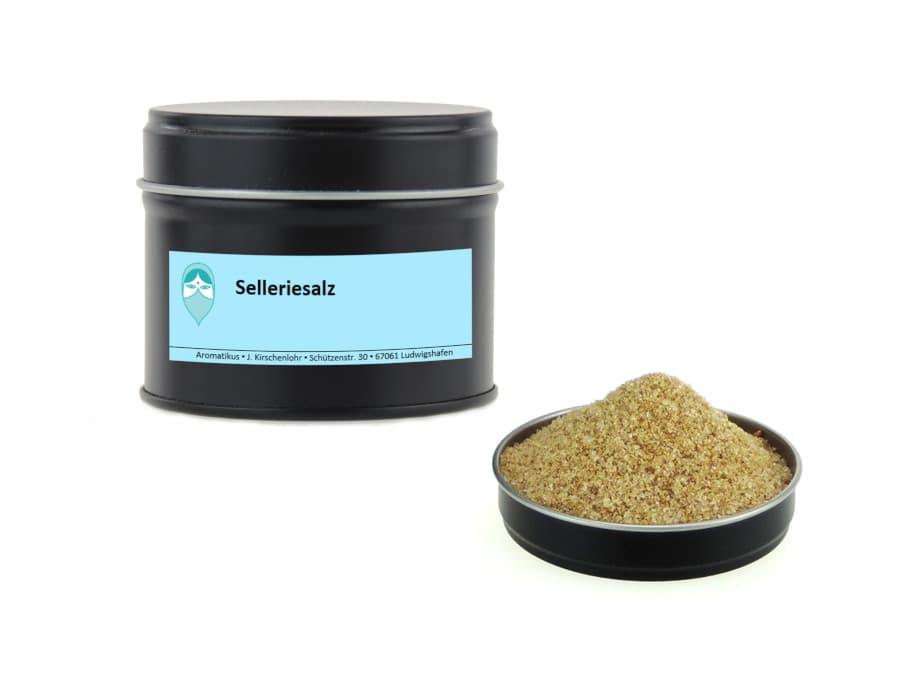 Selleriesalz Mischung von Aromatikus in einer Aromaschutzdose