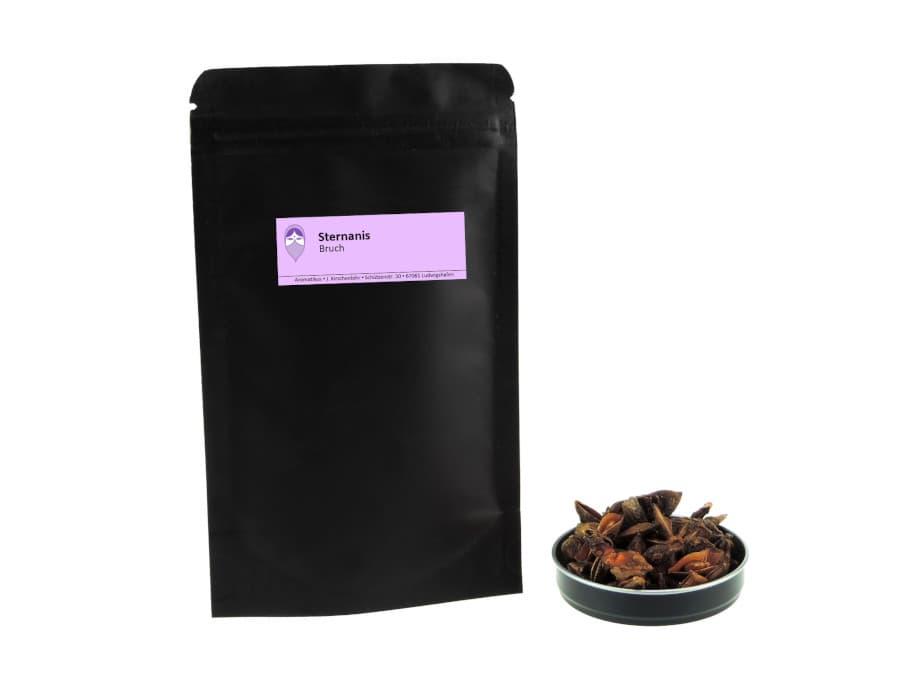 Sternanis Bruch von Aromatikus im verschließbaren Nachfüllpäckchen