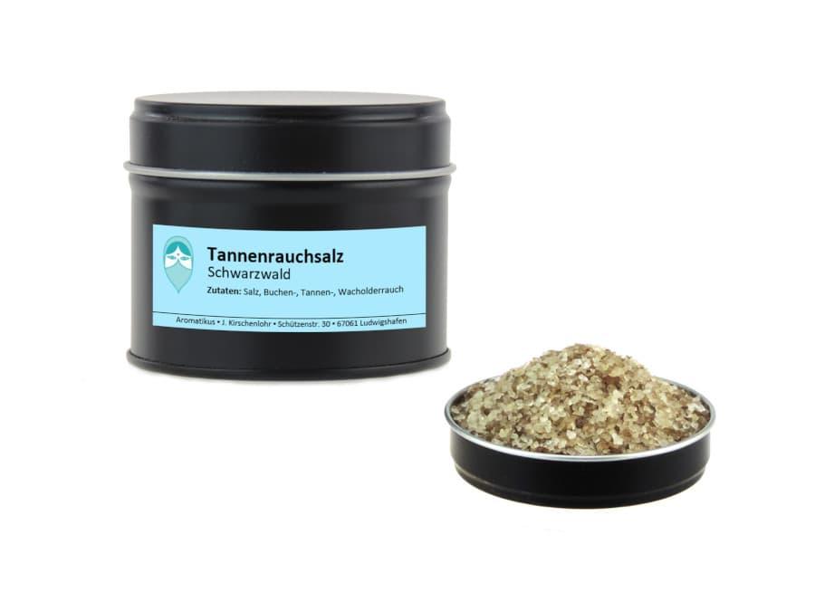 Schwarzwälder Tannenrauchsalz von Aromatikus in einer Aromaschutzdose
