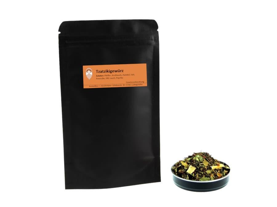 Tzatzikigewürz Mischung von Aromatikus im verschließbaren Päckchen