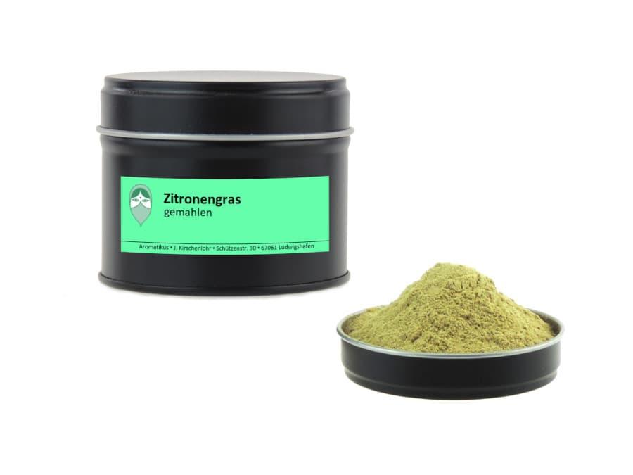Zitronengras gemahlen von Aromatikus in einer Aromaschutzdose