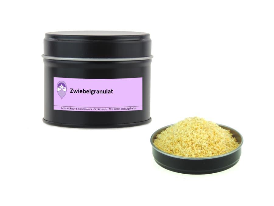 Zwiebelgranulat von Aromatikus in einer Aromaschutzdose