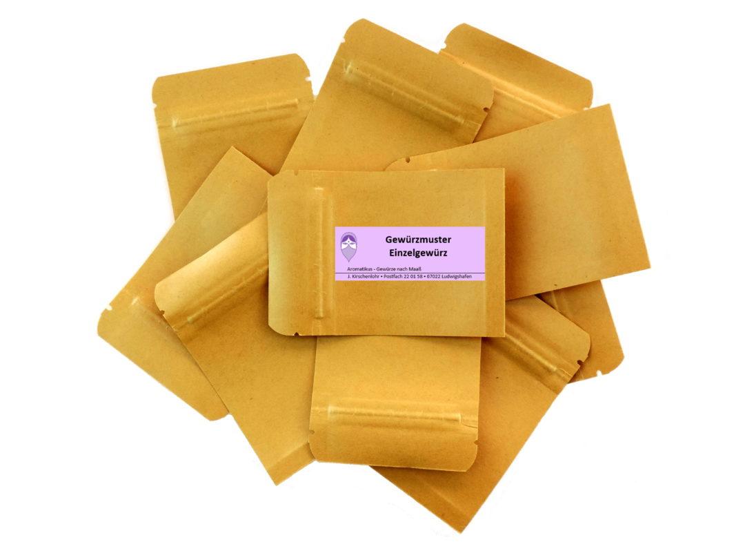 Gewürzmuster in kleiner Menge Einzelgewürze Mono von Aromatikus