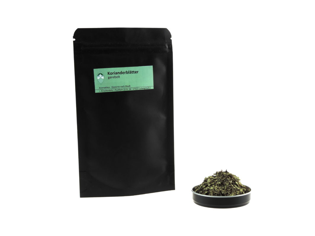 Korianderblätter gerebelt von Aromatikus