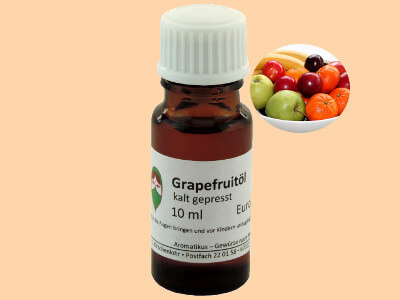 Ätherisches Duftöl Grapefruit als naturreines Öl von Aromatikus