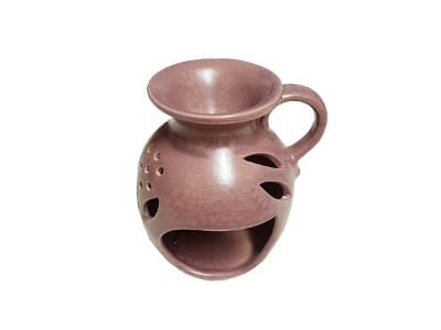 Keramik Duftlampe altlila von Aromatikus