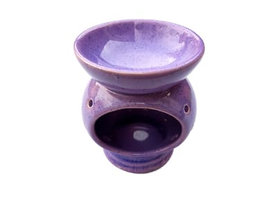 Keramik Duftlampe lila von Aromatikus