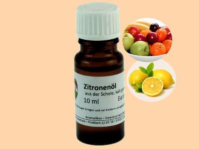 Ätherisches Duftöl Zitrone als naturreines Öl von Aromatikus