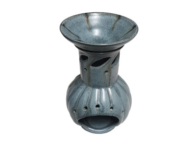 Keramik Duftlampe blau-grau von Aromatikus
