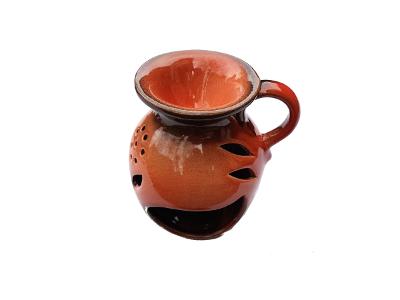 Keramik Duftlampe orange von Aromatikus